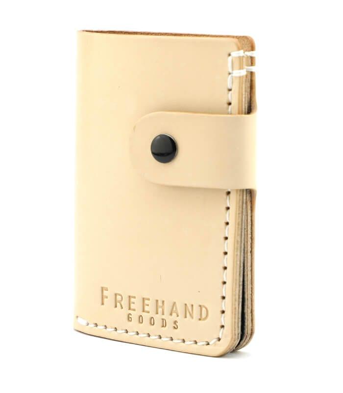 Natural Primrose Snap Leather Wallet