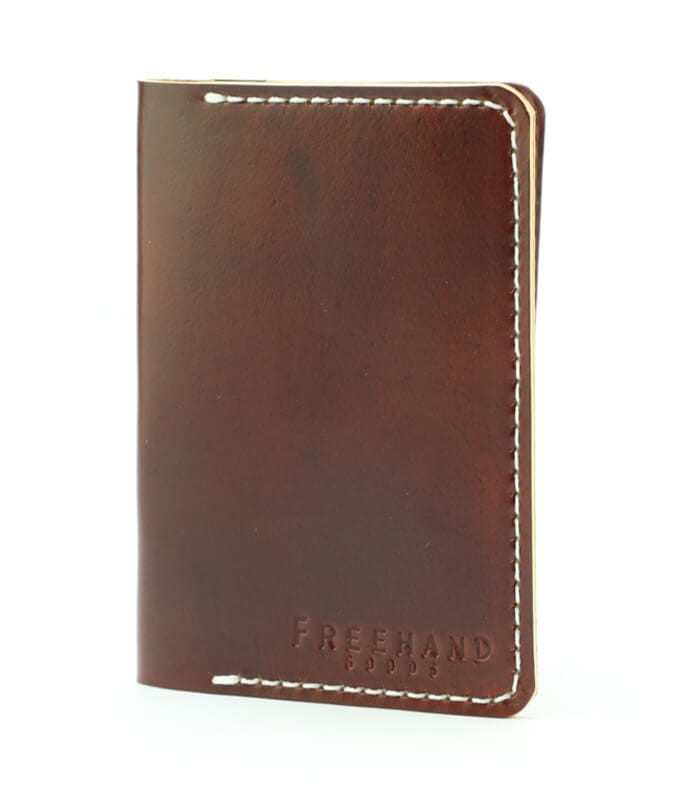 Oxblood Fairbanks Leather Passport Wallet